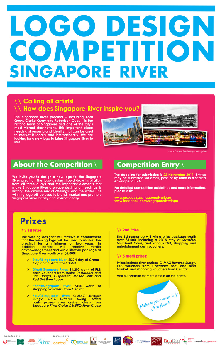 Calling for entries singapore river logo design Logo design competitions