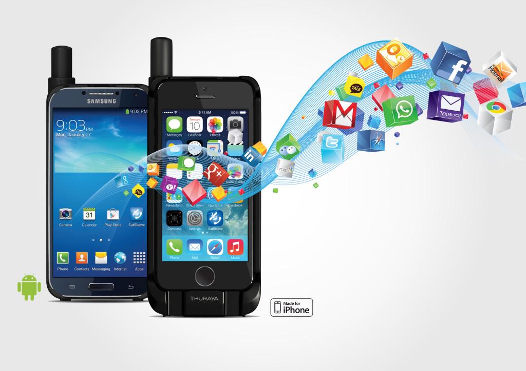 satsleeve Galaxy and iphone