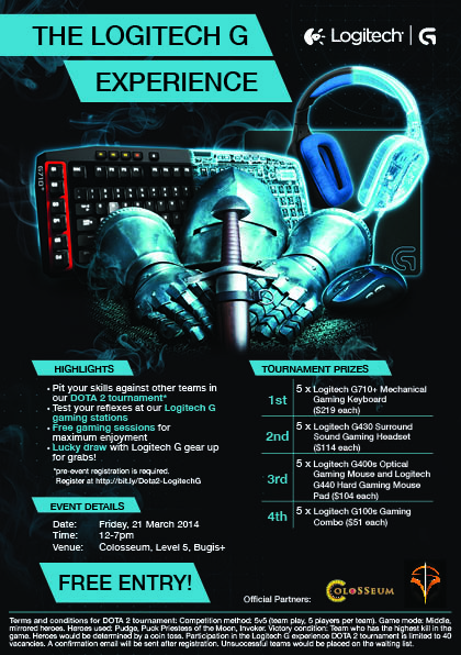 The Logitech G Experience - 21 March 2014 (e-flyer)