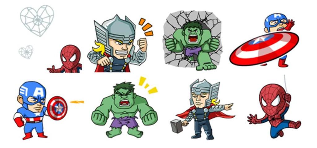 WeChat Marvel Sticker - Set 1