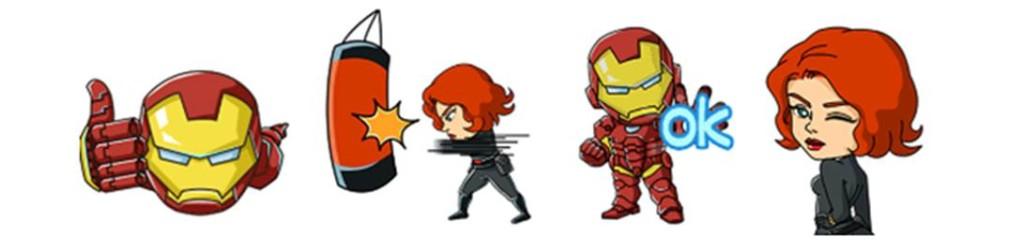WeChat Marvel Sticker - Set 2