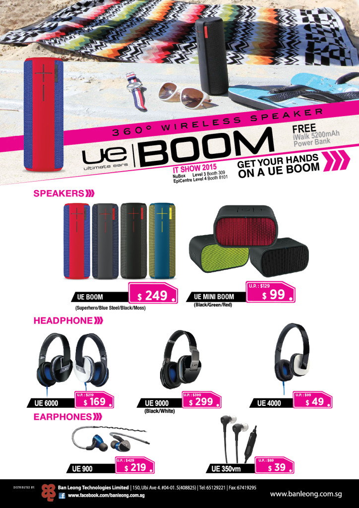 Ultimate Ears at IT Show 2015 promos