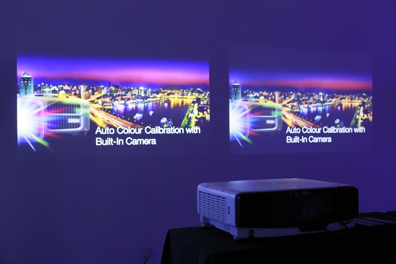 Comparison shootout - Side by side comparison with the Epson EB-L1100U (left) with a competitor's laser projector (right)