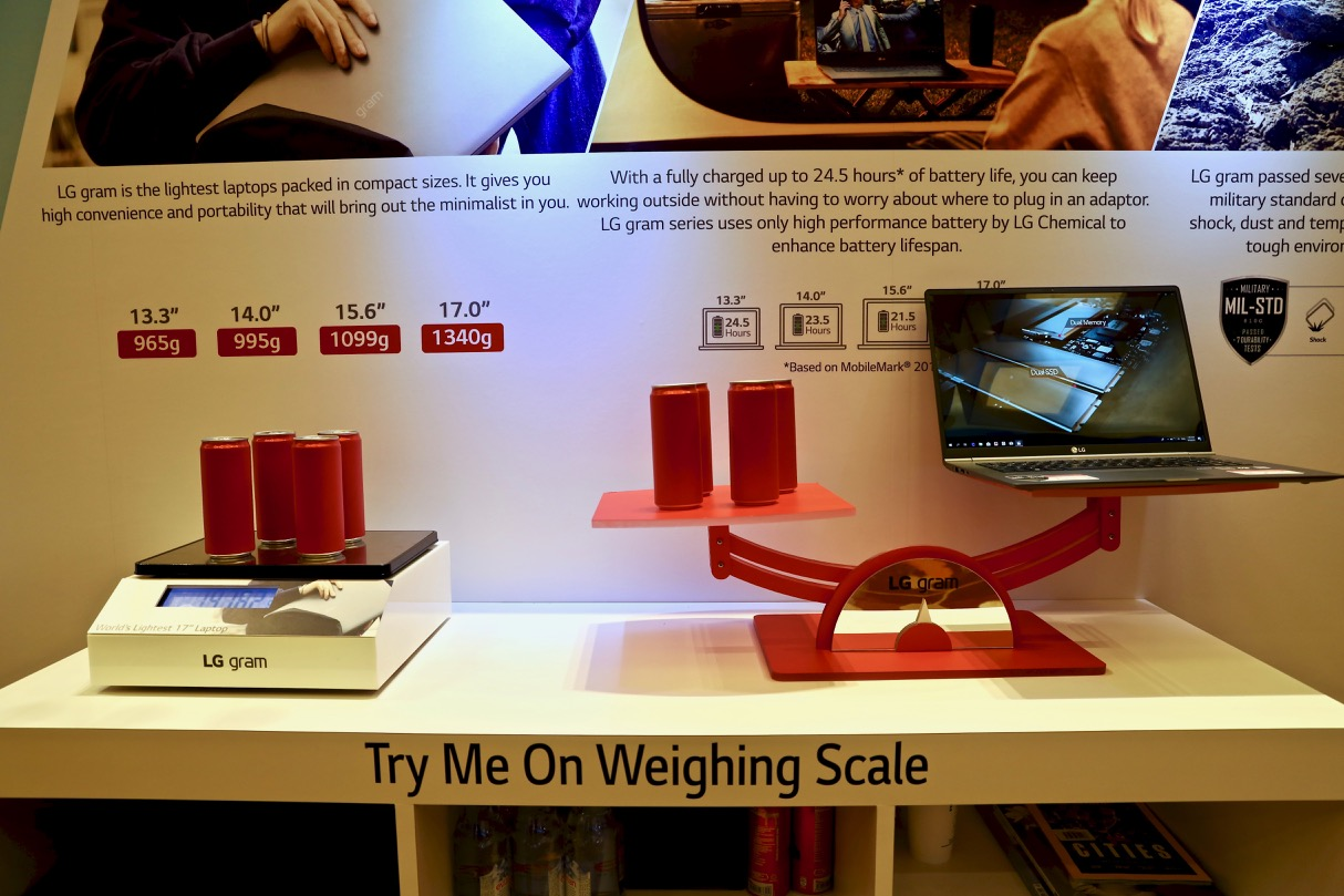 LG gram - try me on the weighing scale